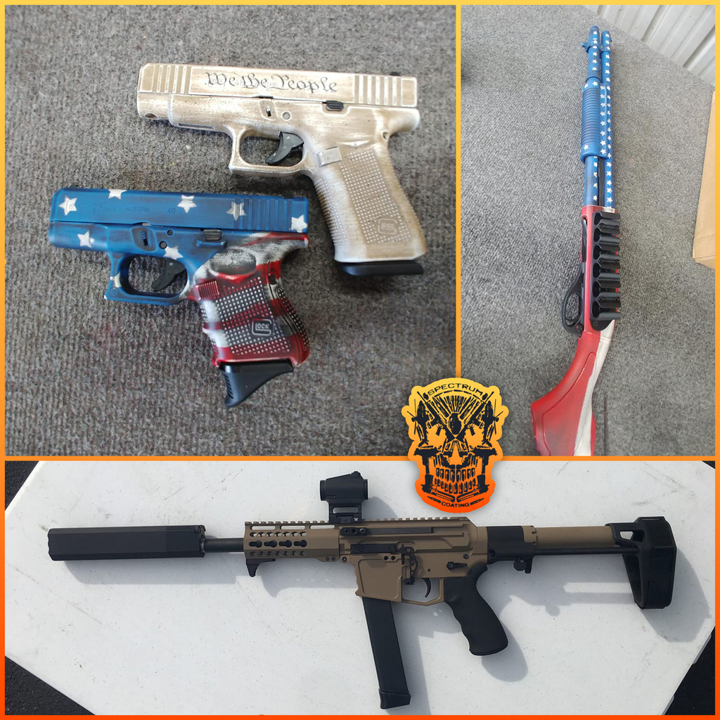 Spectrum and Cerakote: The Perfect Combination for Customizing Your Patriotic Firearm